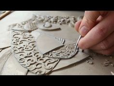 Victoria Ellis Carves Fine Bas Relief Figurative Clay Mural - YouTube