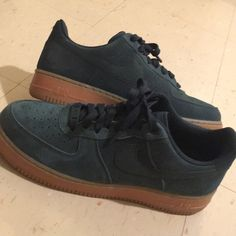 best sneakers 61c63 f1a8d Nike Shoes   Nike Air Force One New Addition Suedes   Color  Green   Size   9.5