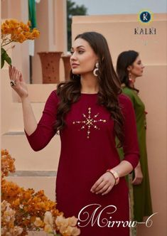 Book Kalki Mirow Vol 6 Pure Rayon Designer Kurti With Bottom.✓Top : 14 Kg Pure Rayon Foil Print✓Price : : ✓Availability : On Booking At Textilebuzz ✓Set To Set. Lehenga, Saree, Kurti, Casual Wear, Cold Shoulder Dress, Presents, Top 14, Gowns, Pure Products