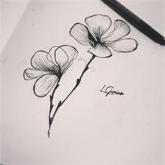 A beleza do preto e branco também me encanta • saindo da minha zona de conforto #blackwork #pb #flowers #sketch #estudo #draw #tatuagem #tattoo #flores #2015comnovidades