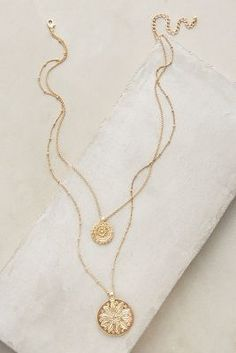 Layered Emblem Necklace - anthropologie.com