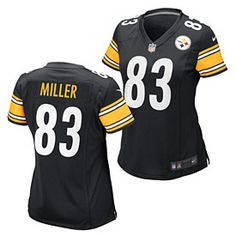 4190dd256 Get this Pittsburgh Steelers Heath Miller Ladies Game Replica Jersey at  ThePittsburghFan.com