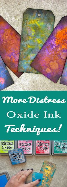 More Distress Oxide Ink Techniques with Heather Tracy for The Graphics Fairy! These are great for Mixed Media Projects, Collage, Card Making and more!
