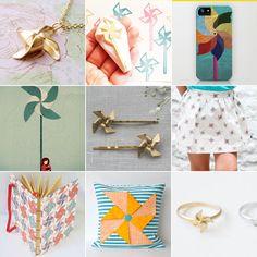 Ideas para sellos: domingos adorables: molinillos de papel