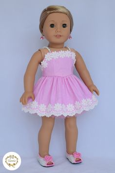 American girl doll clothes Formal Dress 3 by PurpleRoseNY