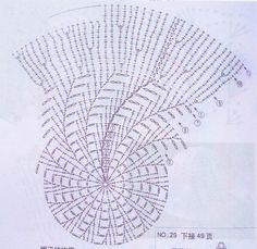 Детская панамка крючком, схема