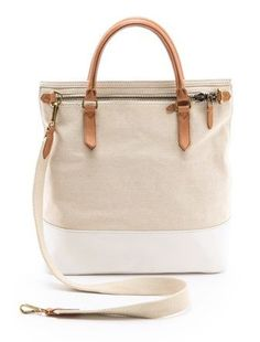 chic neutral carryall... perfect for carrying everything you need during fashion week!