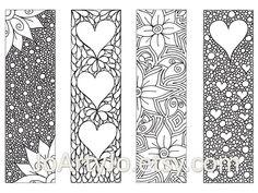 Zendoodle Printable Bookmarks Zentangle Inspired by JoArtyJo