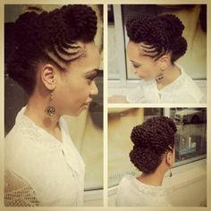 (via CurlBox), natural hair, updo