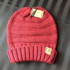 C.C. Beanie Wine Color Slouchy C.C. Beanie. Accessories Hats