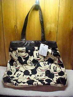 Mickey Mouse Disney Tote with Red Glitter Highlights.  $29.99