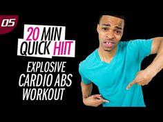 20 Min. EXPLOSIVE Cardio + Mat Abs | 20 Min. Quick HIIT #05 - YouTube