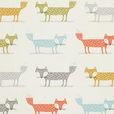 Tissu coton épais imprimé renards - Mondial Tissus