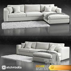 models: Sofa - Etch&Bolts Eudora L-Shaped Sofa Couch Design, Living Room Sofa Design, New Living Room, Living Room Designs, Design Room, Sofa Set Designs, L Shaped Sofa Designs, Lounge Sofa, Sectional Sofa