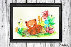♥ Panda ♥ Kinderbild - Aquarell Print von TinyTami auf DaWanda.com