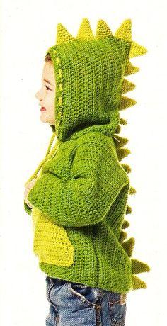 Crochet Sweater Baby Boy Yarns Ideas For 2019 Baby Patterns, Knitting Patterns, Crochet Patterns, Knitting Ideas, Crochet Stitches, Knit Crochet, Lidia Crochet Tricot, Crochet Dinosaur, Baby Pullover