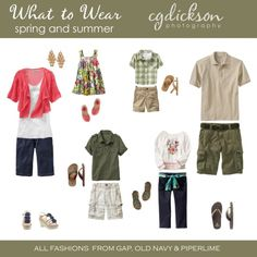 what to wear - family portrait outfit ideas