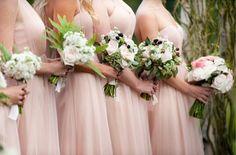 Rustic Beaver Creek Wedding at Beano's Cabin {Brinton Studios} - blush bridesmaid dresses