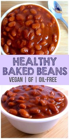 Vegan Baked Beans These Vegan Baked Beans are absolutely delicious! They taste just like Bushs but are way better for you. They are gluten-free low-calorie low-carb dairy-free and sugar-free. Sure to be loved by the whole family! Source by anniemarkowitz Healthy Baked Beans, Baked Bean Recipes, Healthy Snacks, Vegan Recipes, Cooking Recipes, Gluten Free Baked Beans, Sugar Free Baked Beans Recipe, Low Sodium Baked Beans Recipe, Vegetarian Recipes