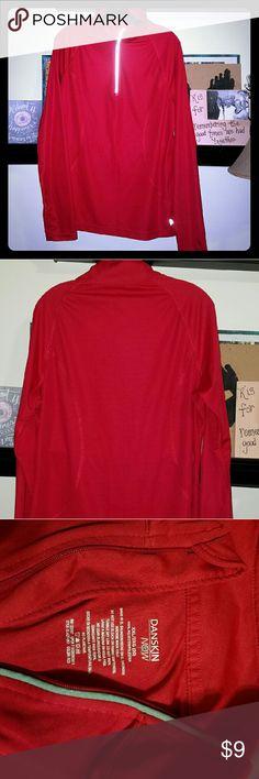 Women's Active Quarter Zip Top Danskin Women's Active Quarter Zip Top, fitted, with reflective detail on zipper cover, lightweight, perfect for workout or casual. The color is a bit deeper, truer red than shown. Danskin Tops Tees - Long Sleeve