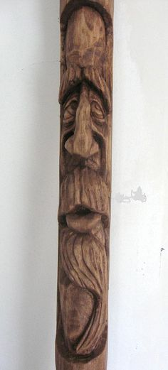 The Apprehensive Soul (hand carved wood spirit walking stick) | by chessmkr1