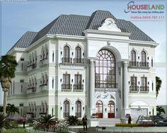 mẫu thiết kế biệt thự cổ điển đẹp