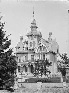 Collins Residence. Built 1876 and still stands at 1363 N. Prospect. The spires have since been removed.
