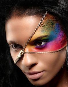 zipper halloween makeup