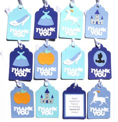 Items similar to Thank you Favor or Loot Bag Tags Personalized Cinderella Princess Themed Birthday Party Decoration on Etsy Princess Party Decorations, Birthday Party Decorations, 15 Birthday, Birthday Parties, Cinderella Party, Loot Bags, Personalized Tags, Favors, Party Ideas
