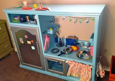 Tending the Home Fires: DIY Repurposed Play Kitchen