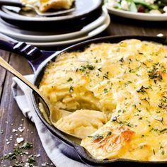 Julia Child's Potato Gratin Dauphinois - creamy and cheesy, by the Queen of French cooking.