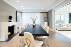 modern formal dining area