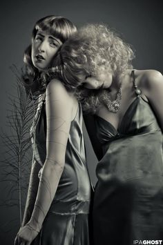 vintage portrait with models Erin & Trina