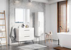 Meble łazienkowe/ bathroom furniture Futuris Collection Divider, Bathtub, Vanity, Bathroom, Inspiration, Furniture, Design, Home Decor, Standing Bath