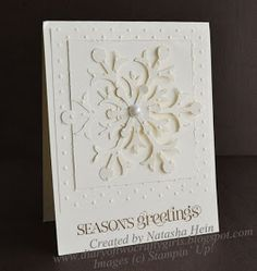 Diary of Two Crafty Girls: Clean and Simple Snow Flurry Card