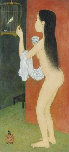 Painting on Silk by Vietnamese Artist Mai Trung Thu ~ Blog of an Art Admirer