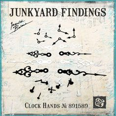 Just Listed~Prima Junkyard Findings Vintage Metal Trinkets Clock Hands Scrapbook Embellishments Not A Pre Order~Ready To Ship  https://www.etsy.com/listing/220850750/prima-junkyard-findings-vintage-metal