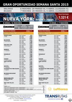 NUEVA YORK: Avion + hotel / 8 y 9 días ¡¡Gran Oportunidad Semana Santa: 29 marzo!! sal. Bilbao ultimo minuto - http://zocotours.com/nueva-york-avion-hotel-8-y-9-dias-gran-oportunidad-semana-santa-29-marzo-sal-bilbao-ultimo-minuto-2/