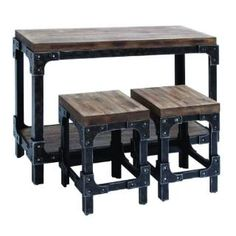 Check out the Woodland Imports 85976 Table Stool with Detailed Design and Rich