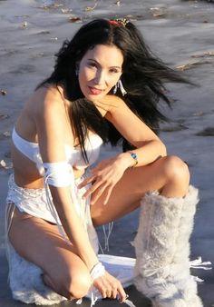 Native American model, actress, and clothing designer Junal Gerlach
