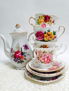 Vintage High Tea Set Summertime