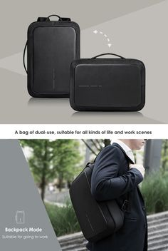 Office Waterproof Backpack/Briefcase With Password Lock,External USB For inch Laptop Laptop Rucksack, Men's Backpack, Laptop Bag, Usb, Travel Accessories For Men, Mens Gadgets, Latest Laptop, Nylons, Anti Theft Backpack