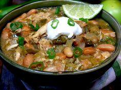Slow Cooker Green Chicken Chili Crockpot Recipes, Soup Recipes, Slow Cooker Recipes, Mexican Food Recipes, Chicken Recipes, Cooking Recipes, Ethnic Recipes, Chili Recipes, Chicken Chile