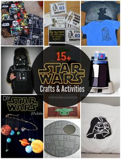 15+ Star Wars Crafts & Activities via momendeavors.com #StarWars #Maythe4th