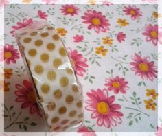 MT tape gold polka dots washi tape