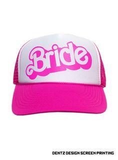 Bride Hot Pink Snapback Trucker Hat by WifeyChic on Etsy f6648576bcd9