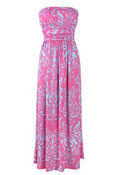 #AdoreWe #CupShe CupShe Feel Good Moire Strapless Maxi Dress - AdoreWe.com