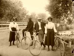 zuky:    classicalallure:    victorianedge:    People of the Victorian Era      Fixed gear bikes and vintage threads pre-post-cool enough to make hipsters weep.
