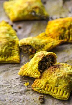 Jamaican lentil pasties