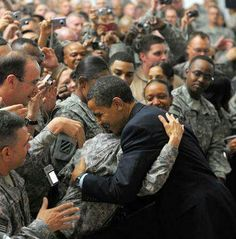 President Obama Meeting With The Troops!!!